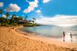 Leinwanddruck Bild - Maui's famous Kaanapali beach resort area