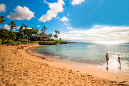 Maui's famous Kaanapali beach resort area