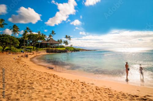 Foto op Canvas Eiland Maui's famous Kaanapali beach resort area