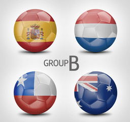 Group B - Spain, Netherlands, Chile, Australia (Brazil 2014)