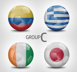 Group C - Colombia, Greece, Ivory Coast, Japan (Brazil 2014)