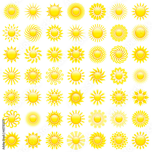 49 Yellow Sun Icons