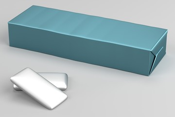 realistic 3d render of chewing gums