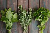 Fototapeta Miseczki z różnymi przyprawami i ziołami