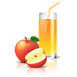 Apple juice vector illustration
