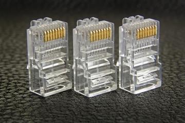 three RJ-45 connector