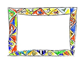 Color Doodles Frame