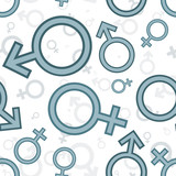 Gender icons. Seamless pattern