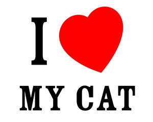 J'aime mon chat