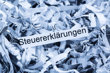 shredded paper tax returns