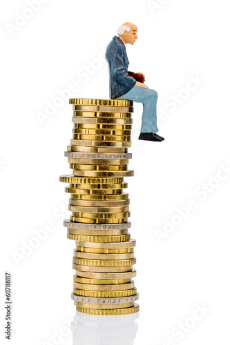 pensioners sitting on cash pile
