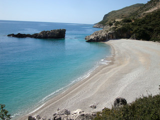 Drymades beach, Dhermi village, South Albania