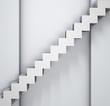 steps near a grey wall background