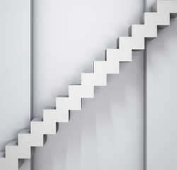 steps near a grey wall background
