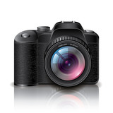 Digital photo camera vector illustration