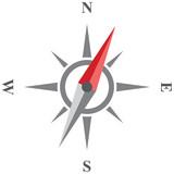 Compass vector icon.