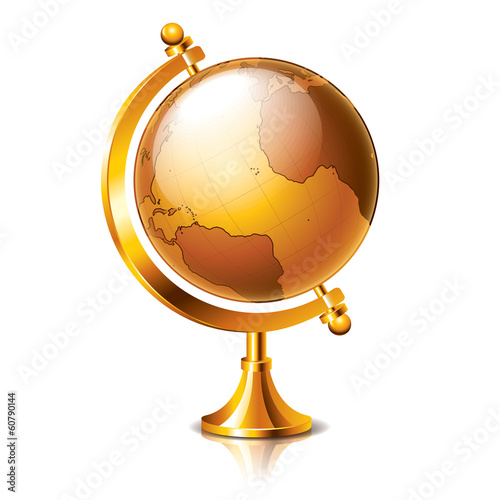 Retro Globe isolated on white vector