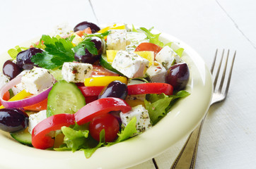 Homemade greek salad