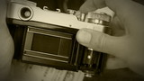 Old film reporteurs shutter mechanism work