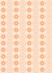 Hintergrund Kreise und Quadrate auf apricot