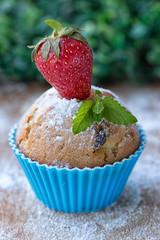 mini cake with strawberries