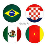 Group A - Brazil, Croacia, Mexico, Cameroon