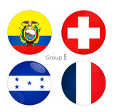 Group E - Ecuador, Switzerland, Honduras, France