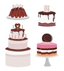 Set of Cake icons