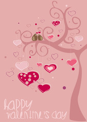 happy V'sDay in pink