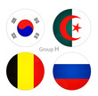Group H - South Korea, Algeria, Belgium, Russia