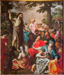 Antwepr - Sermon of st. John the Baptist paint in cathedral