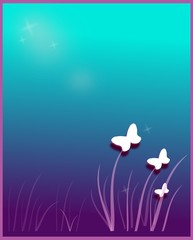 Butterfly blue dream background