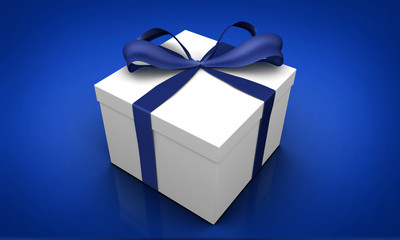 Gifts, Present, with Bow isolated