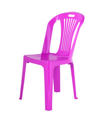 The chair is made of  plastic