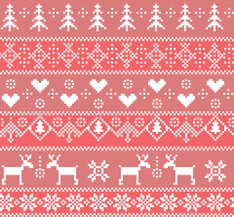 Seamless winter pattern.