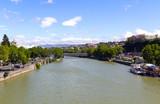 Mtkvari River in the center of Tbilisi. The Republic of Georgia