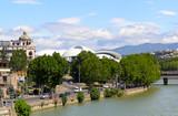The right embankment of the river Mtkvari. Tbilisi. Georgia