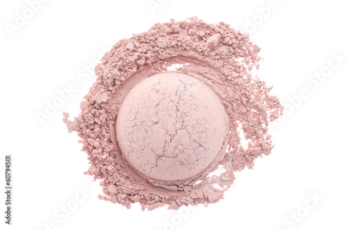 Makeup powder isolated on white background