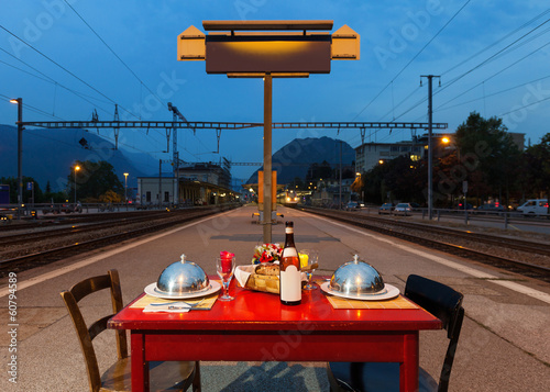 table for two in the station