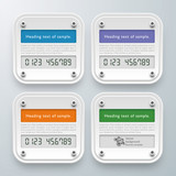 Infographics Vector Background Smart Meter