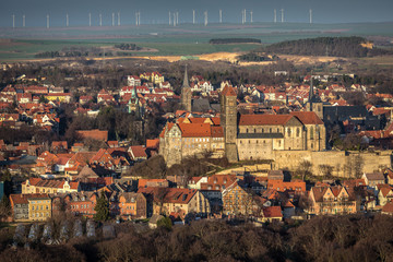 Luftbild - Quedlinburg, Windpark
