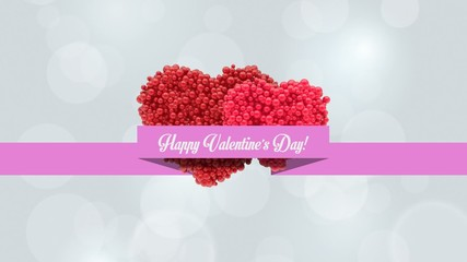 Happy Valentines Day Greeting Card: Particles' Heart Reveal