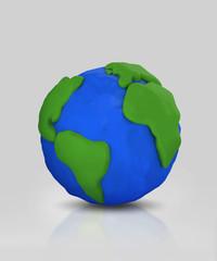 Globe form Clay