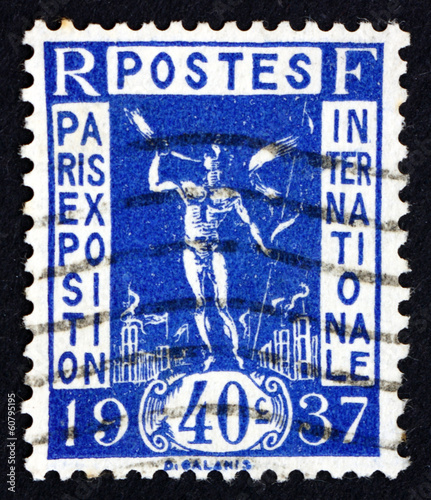 Postage stamp France 1936 Herald