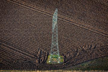 Luftbild - Stromleitung