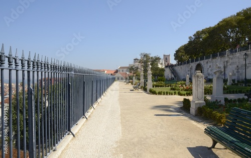 The Praca Alegria View Point in Lisbon, Portugal