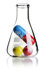 Beaker with pills