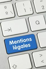 Mentions légales. Clavier