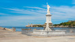 The bay of Havana with an old statue of Neptune