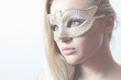 Beautiful Blond Woman in Mask.Masquerade.Sexy Girl.Lovely